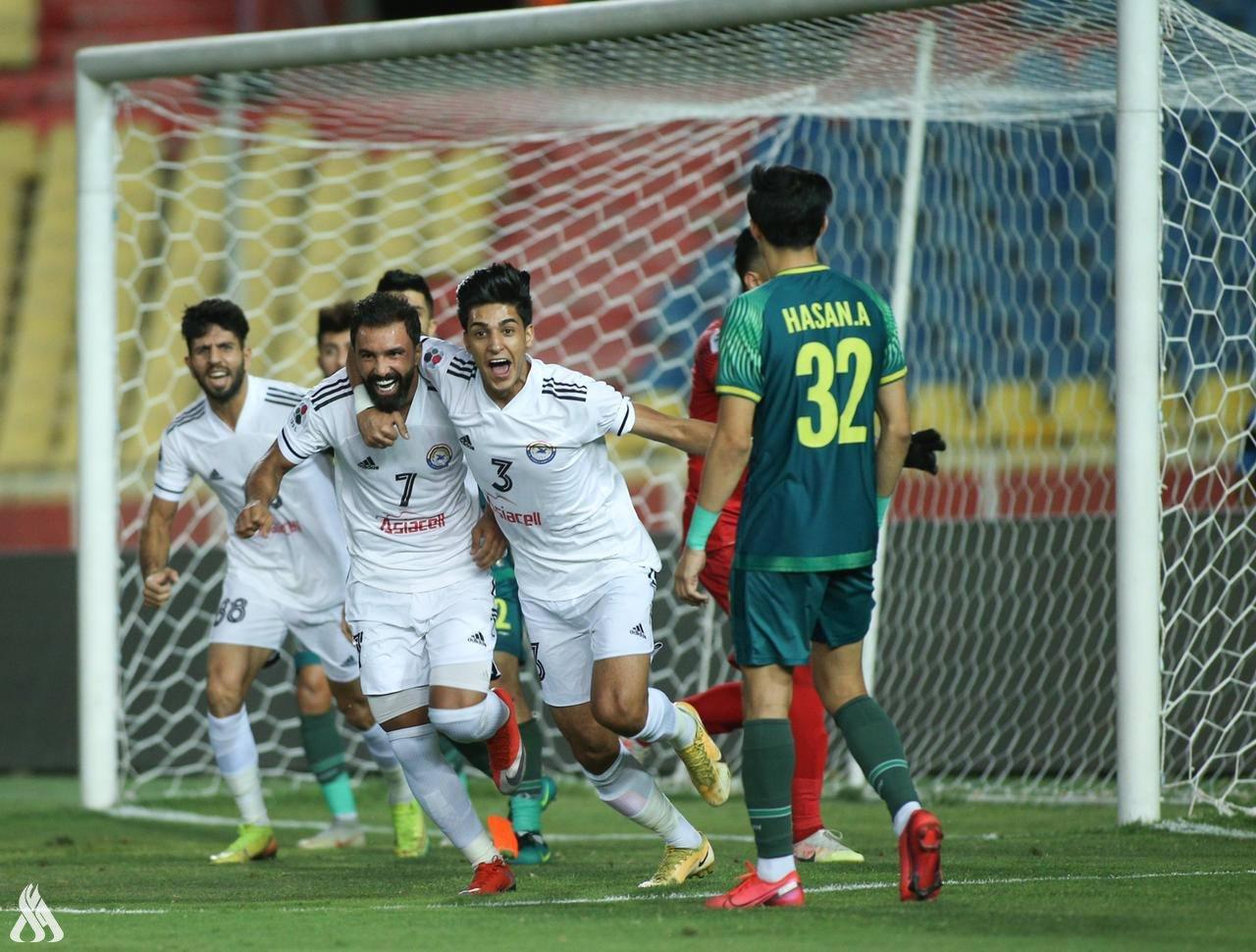 الزوراء يبلغ نهائي كأس العراق بعد فوزه على الشرطة بهدفين نظيفين