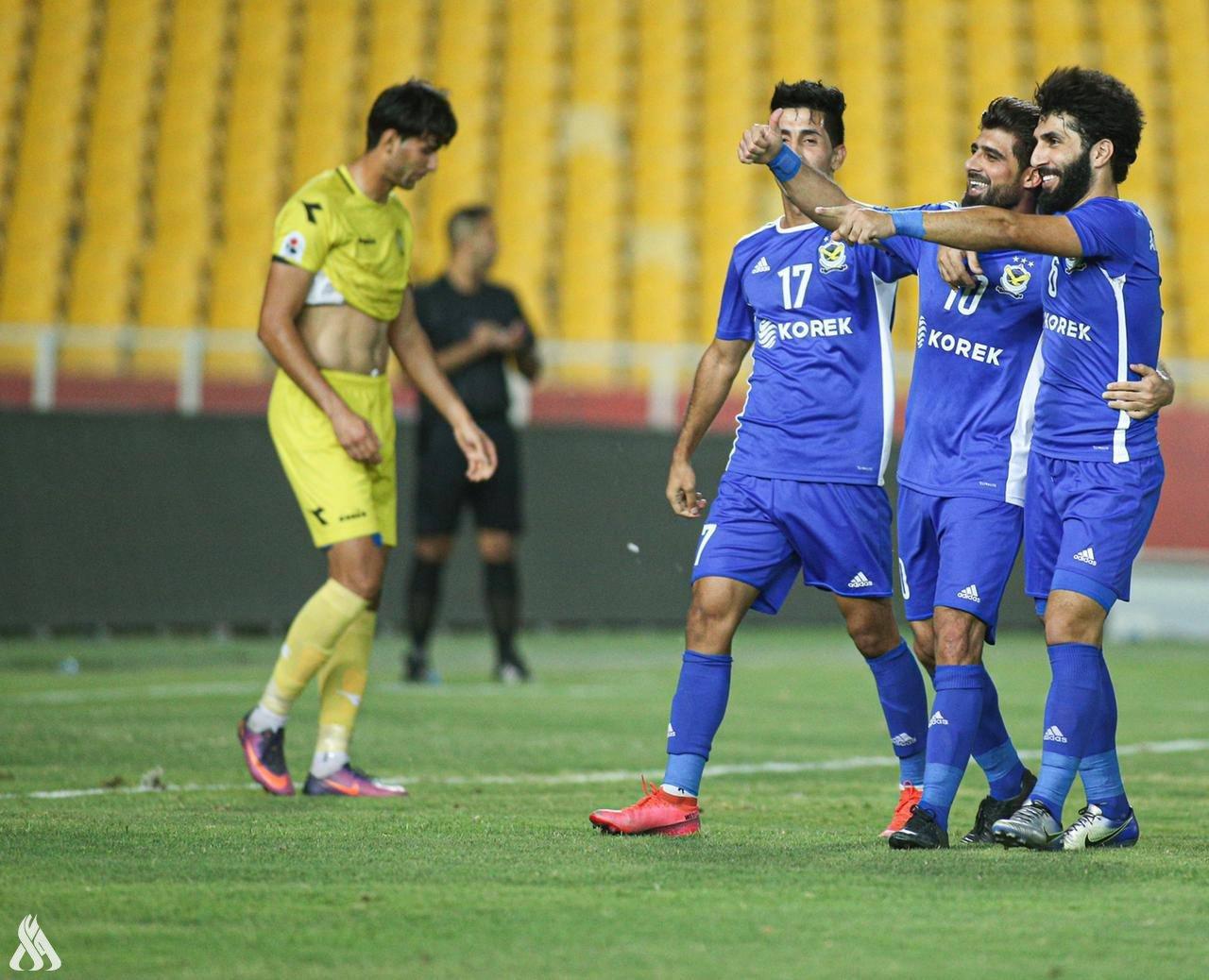 الجوية يهزم الكرخ بثنائية ويبلغ نهائي كأس العراق
